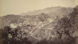 General view of Mussoorie and Landour.